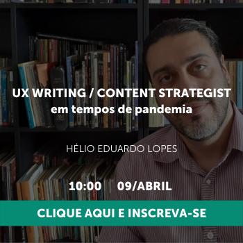 UX Writing em tempos de pandemia